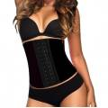 AVA® Waist Trainer Latex  - Musta