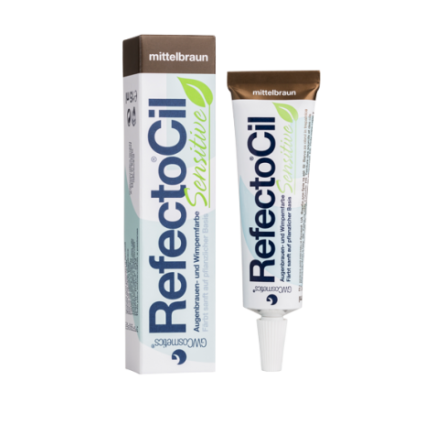 RefectoCil Sensitive, Kulmakarvojen kestoväri 15 ml - Medium Brown