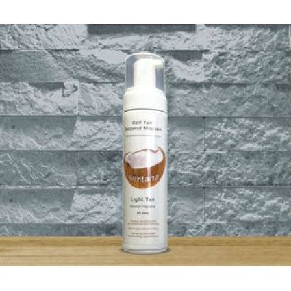 Spray tan Coconut Mousse 200 ml Light Tan -vaalea rusketus